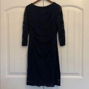 Navy All-Lace Maternity Dress